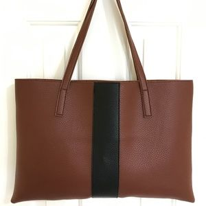 Vince Camuto Luck Leather LARGE Tote Bag, NEW!